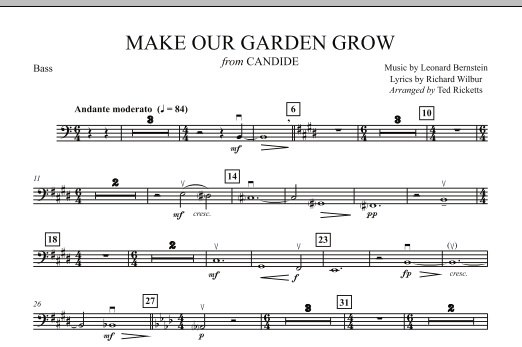 Ted Ricketts Make Our Garden Grow (from Candide) - String Bass sheet music notes and chords. Download Printable PDF.