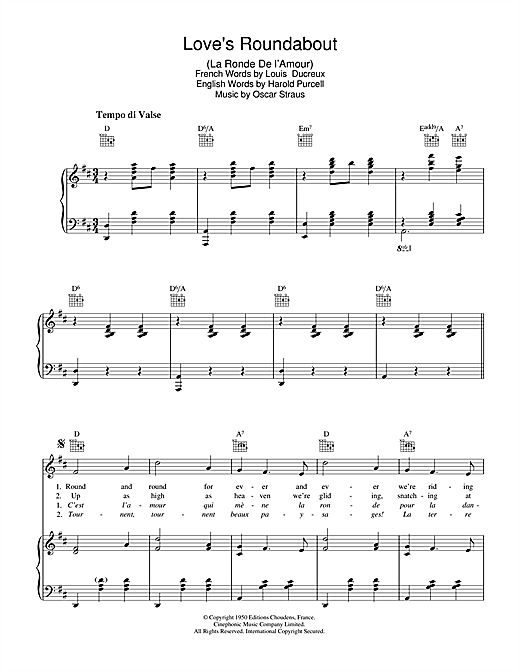 Teddy Johnson Love's Roundabout (La Ronde De L'Amour) sheet music notes and chords. Download Printable PDF.
