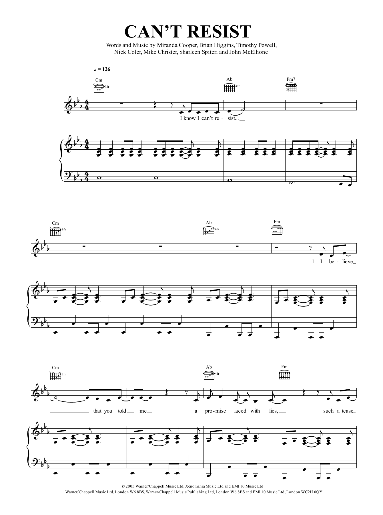 Texas Can't Resist sheet music notes and chords. Download Printable PDF.