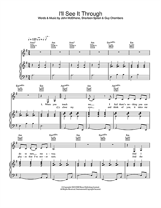 Texas I'll See It Through sheet music notes and chords. Download Printable PDF.
