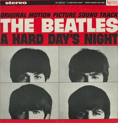 Download The Beatles 'A Hard Day's Night' Printable PDF 2-page score for Pop / arranged Guitar Lead Sheet SKU: 434392.