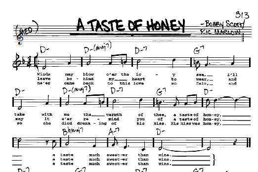 The Beatles A Taste Of Honey sheet music notes and chords. Download Printable PDF.