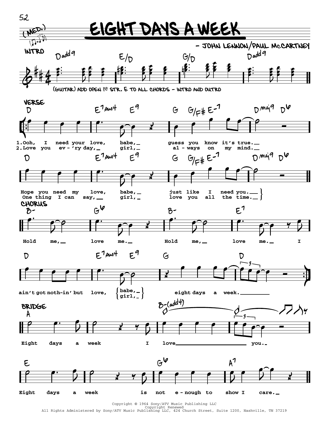 The Beatles Eight Days A Week [Jazz version] sheet music notes and chords. Download Printable PDF.