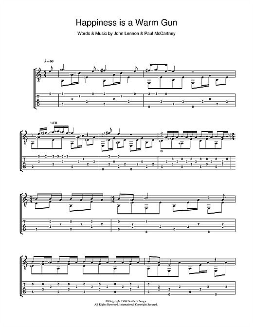 The Beatles Happiness Is A Warm Gun sheet music notes and chords