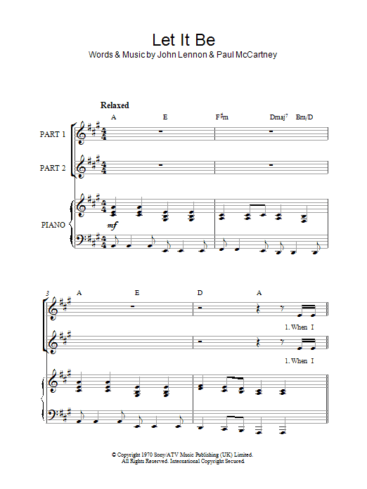 The Beatles Let It Be (arr. Rick Hein) sheet music notes and chords. Download Printable PDF.