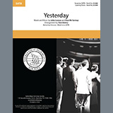 Download The Beatles 'Yesterday (arr. Tom Gentry)' Printable PDF 4-page score for Barbershop / arranged SATB Choir SKU: 435378.