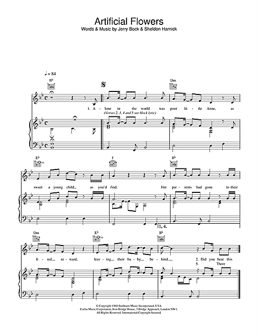The Beautiful South Artificial Flowers sheet music notes and chords