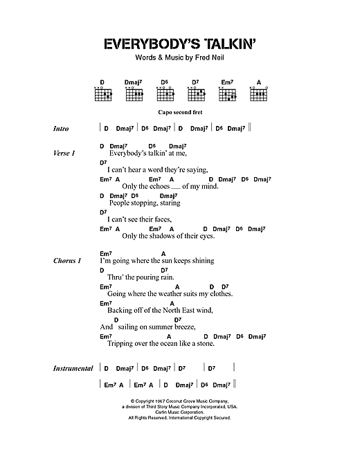 The Beautiful South Everybody's Talkin' sheet music notes and chords