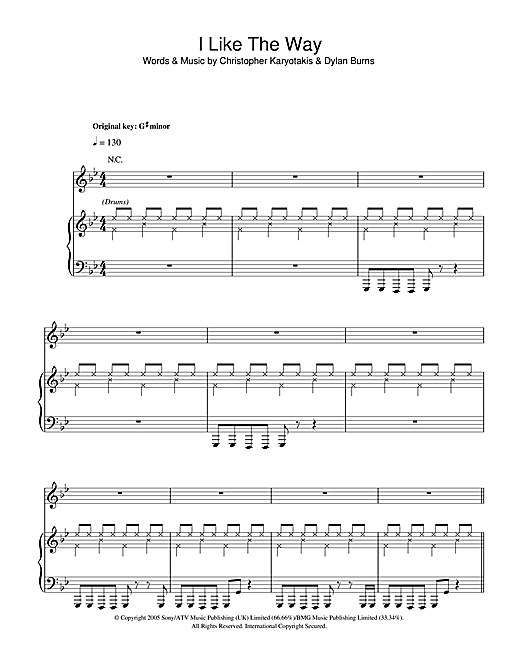 The Bodyrockers I Like The Way sheet music notes and chords. Download Printable PDF.