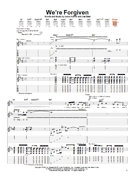 The Calling We're Forgiven sheet music notes and chords