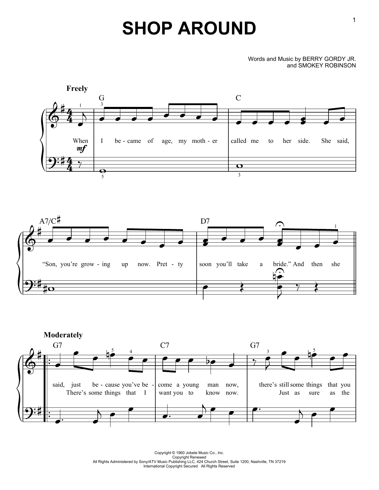 The Captain & Tennille Shop Around sheet music notes and chords. Download Printable PDF.