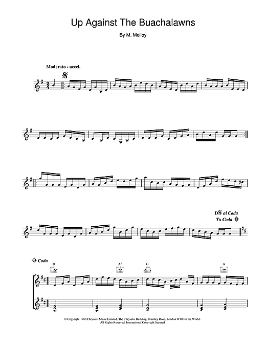 The Chieftains Up Against The Buachalawns sheet music notes and chords. Download Printable PDF.