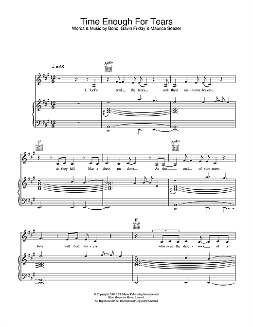 The Corrs Time Enough For Tears sheet music notes and chords. Download Printable PDF.