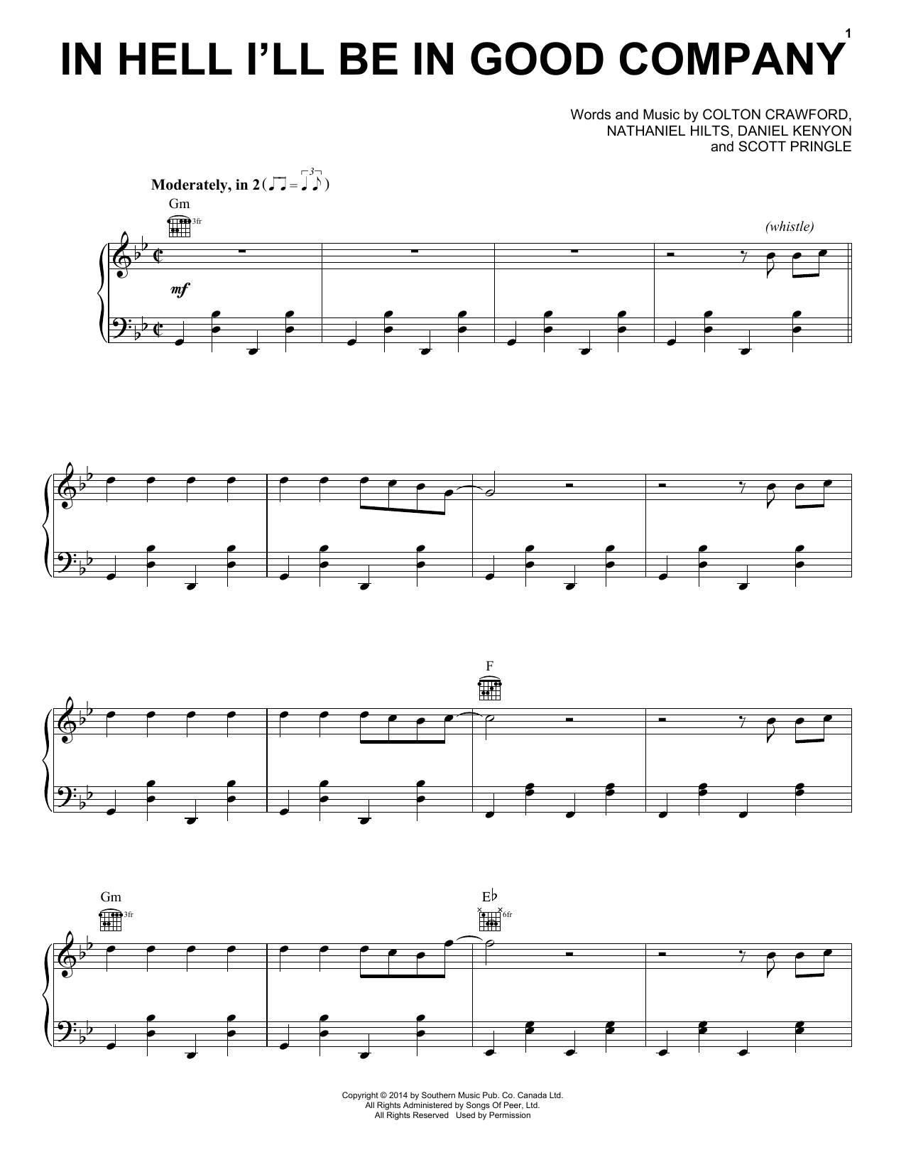 The Dead South In Hell I'll Be In Good Company sheet music notes and chords. Download Printable PDF.