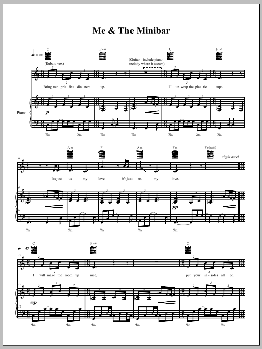 The Dresden Dolls Me & The Minibar sheet music notes and chords. Download Printable PDF.