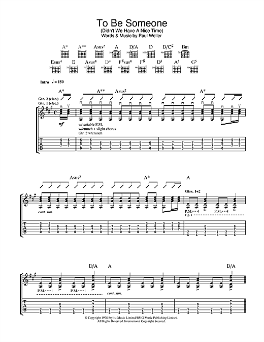 The Jam To Be Someone (Didn't We Have A Nice Time) sheet music notes and chords. Download Printable PDF.