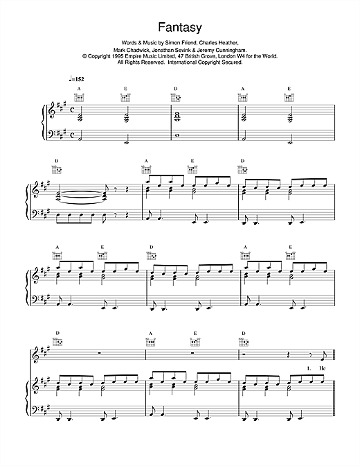 The Levellers Fantasy sheet music notes and chords. Download Printable PDF.