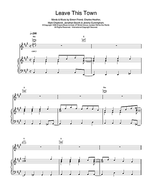 The Levellers Leave This Town sheet music notes and chords. Download Printable PDF.