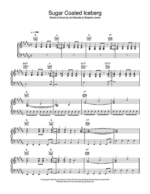 The Lightning Seeds Sugar Coated Iceberg sheet music notes and chords