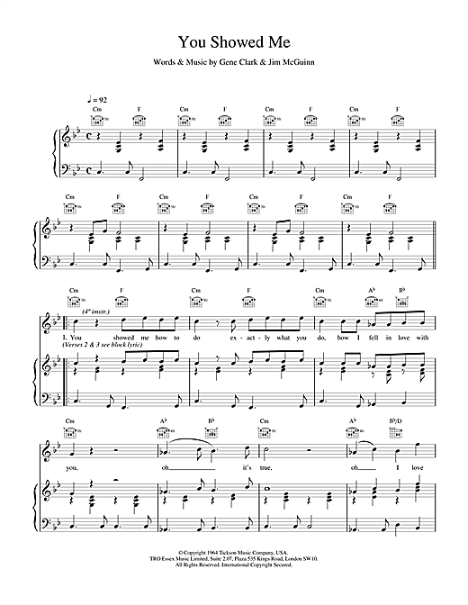 The Lightning Seeds You Showed Me sheet music notes and chords