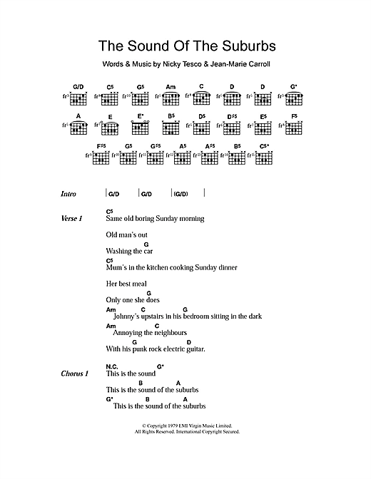 The Members The Sound Of The Suburbs sheet music notes and chords. Download Printable PDF.