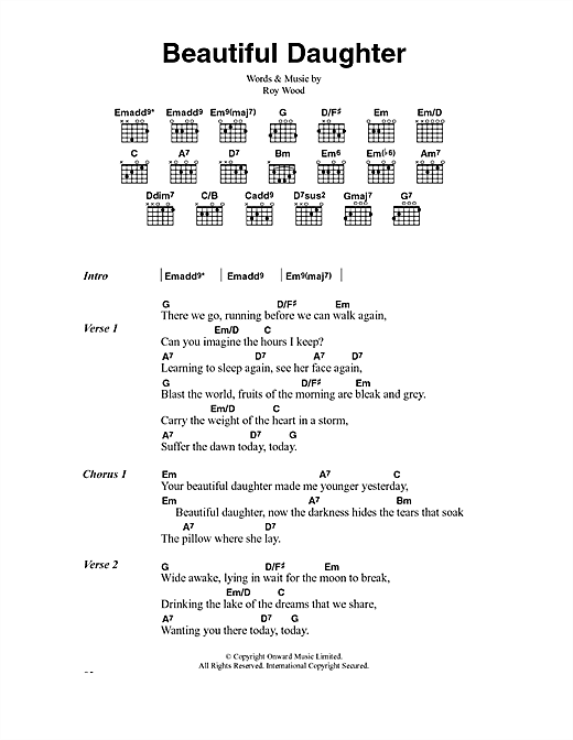 The Move Beautiful Daughter sheet music notes and chords. Download Printable PDF.