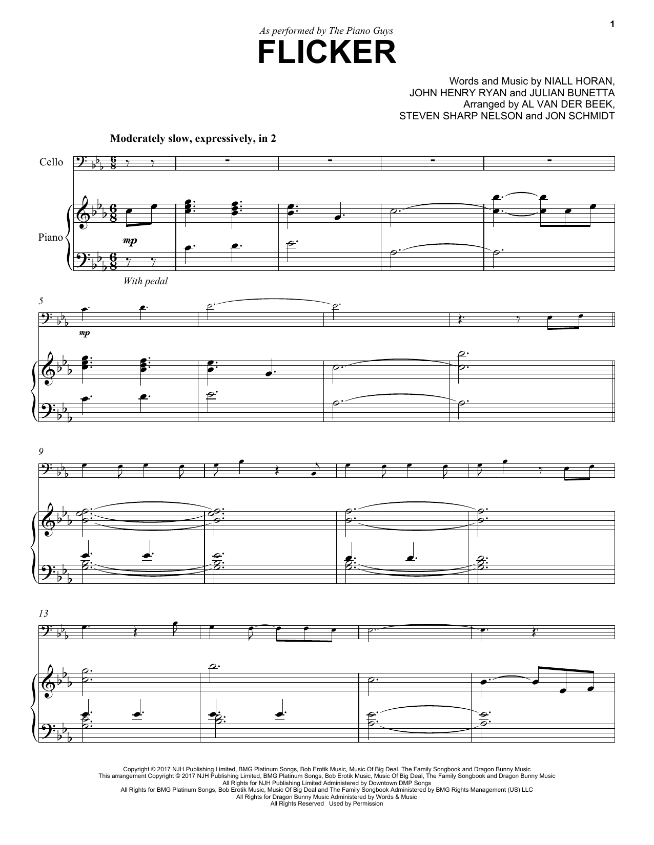 The Piano Guys Flicker sheet music notes and chords. Download Printable PDF.