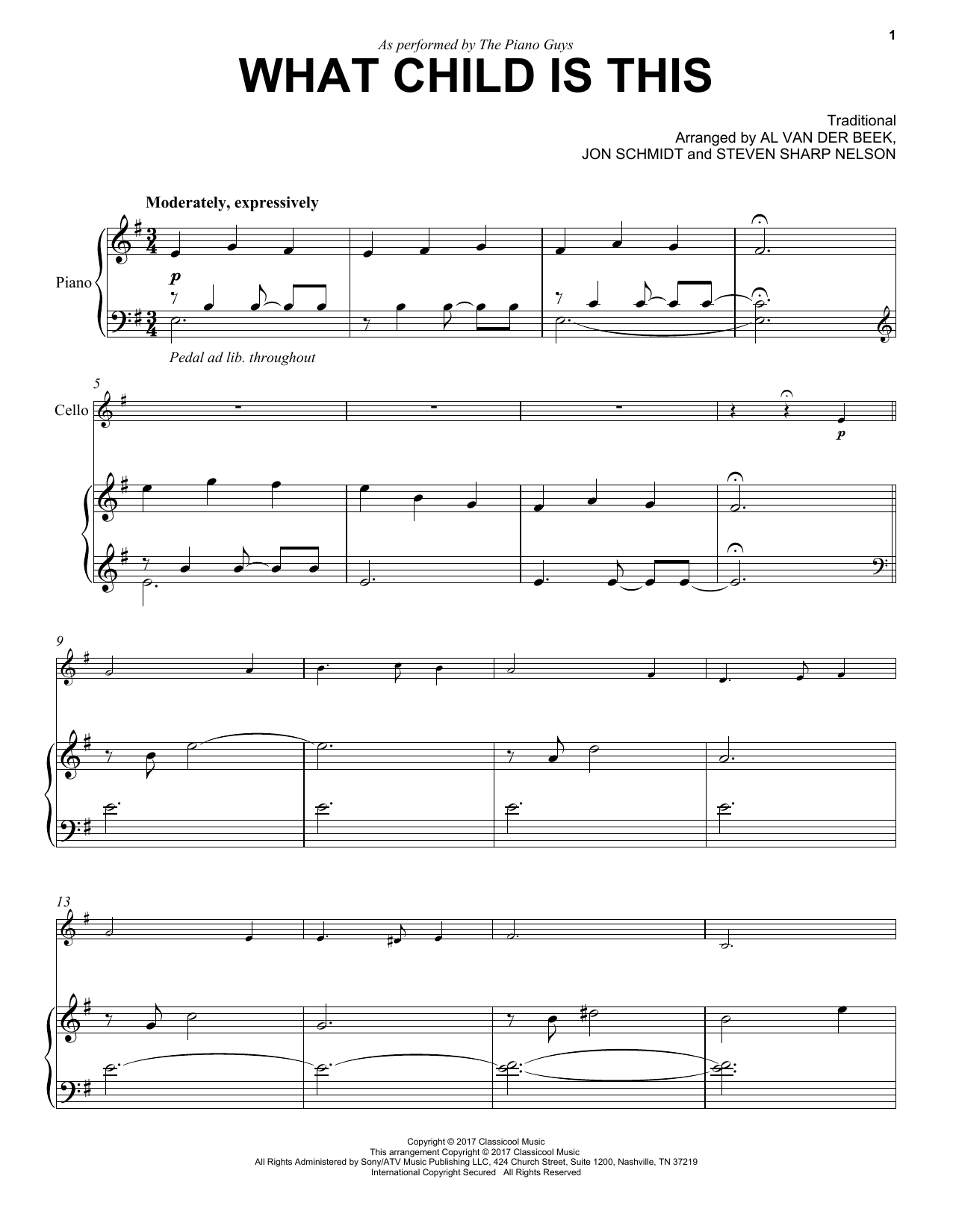 The Piano Guys What Child Is This sheet music notes and chords. Download Printable PDF.