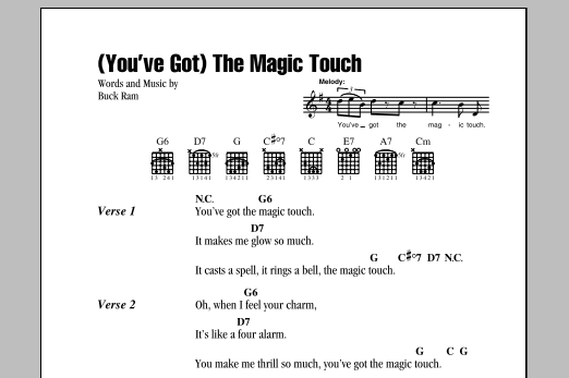 The Platters (You've Got) The Magic Touch sheet music notes and chords. Download Printable PDF.