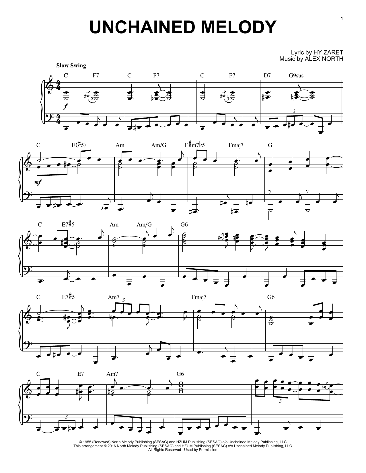 The Righteous Brothers Unchained Melody [Jazz version] (arr. Brent Edstrom) sheet music notes and chords. Download Printable PDF.