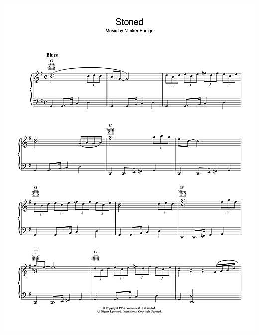 The Rolling Stones Stoned sheet music notes and chords. Download Printable PDF.