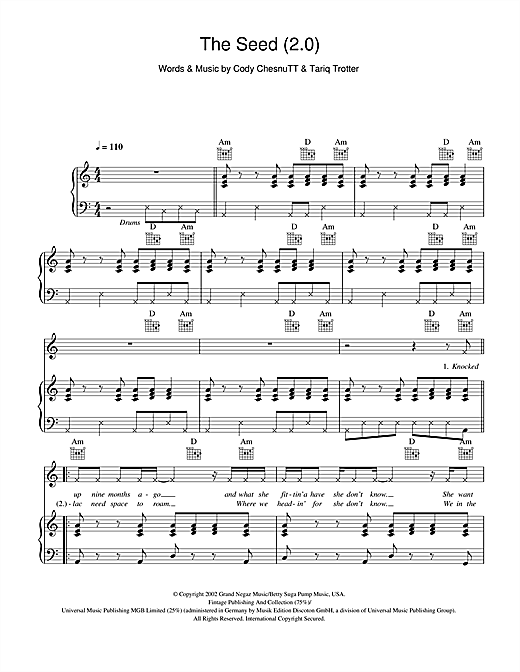 The Roots The Seed (2.0) sheet music notes and chords. Download Printable PDF.