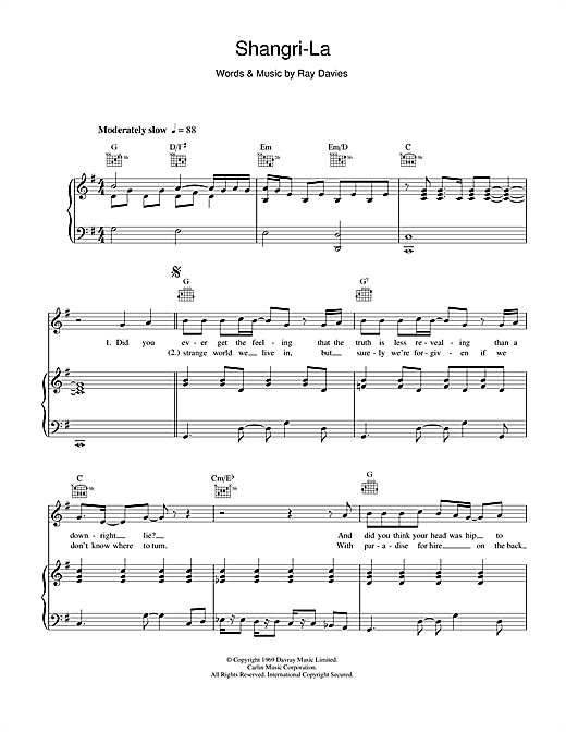 The Rutles Shangri-La sheet music notes and chords. Download Printable PDF.