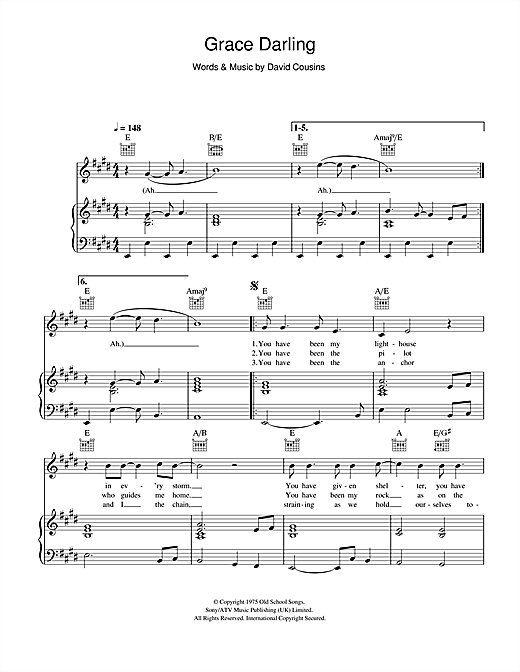The Strawbs Grace Darling sheet music notes and chords. Download Printable PDF.