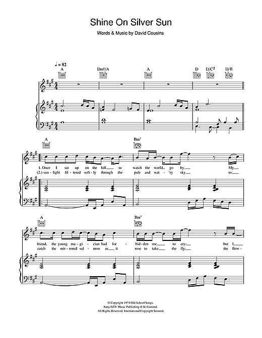 The Strawbs Shine On Silver Sun sheet music notes and chords. Download Printable PDF.