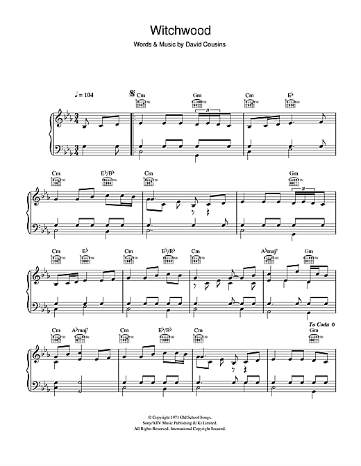 The Strawbs Witchwood sheet music notes and chords. Download Printable PDF.
