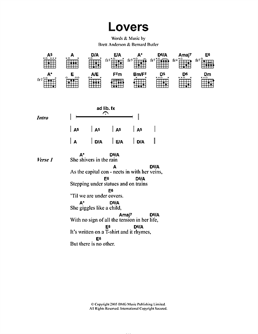 The Tears Lovers sheet music notes and chords. Download Printable PDF.