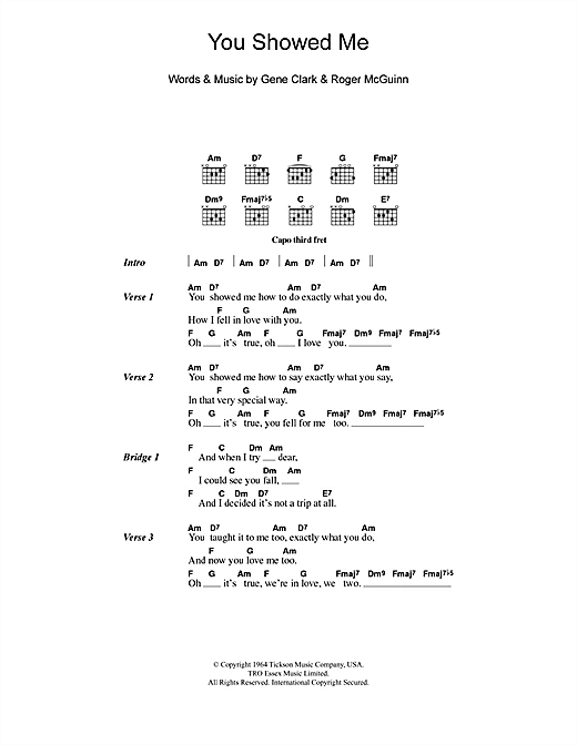 The Turtles You Showed Me sheet music notes and chords. Download Printable PDF.