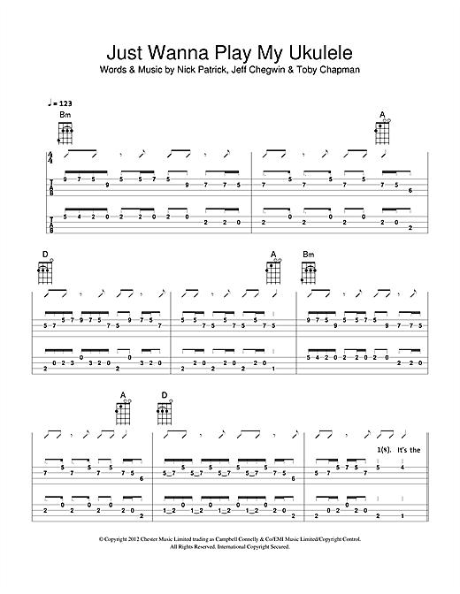 The Ukuleles Just Wanna Play My Ukulele sheet music notes and chords