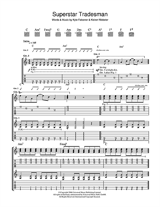 The View Superstar Tradesman sheet music notes and chords. Download Printable PDF.