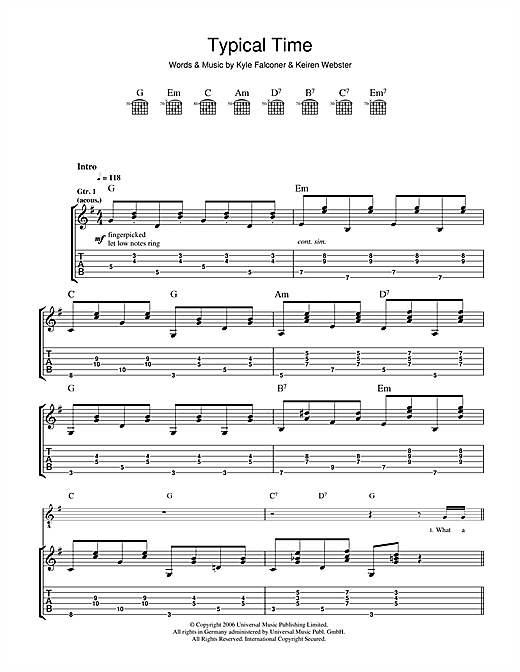 The View Typical Time sheet music notes and chords. Download Printable PDF.