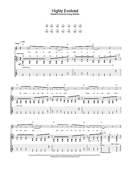 The Vines Highly Evolved sheet music notes and chords