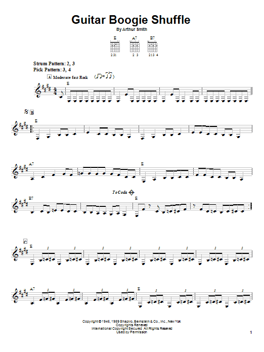 The Virtues Guitar Boogie Shuffle sheet music notes and chords. Download Printable PDF.