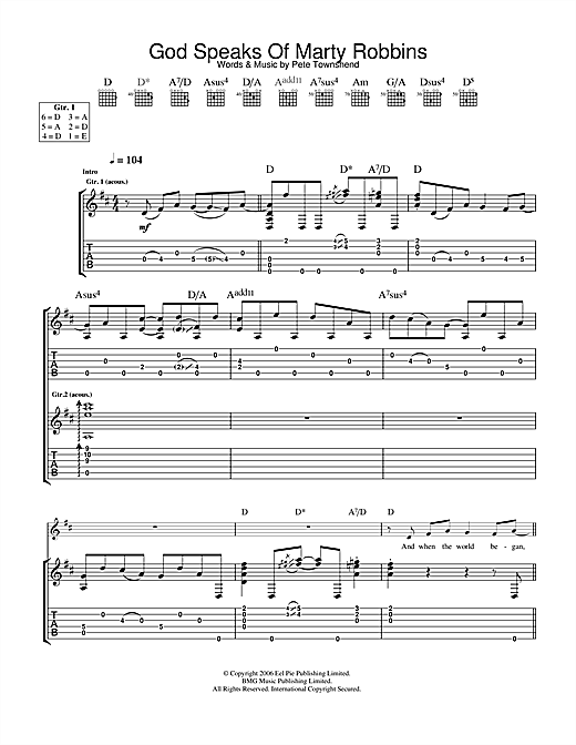 The Who God Speaks Of Marty Robbins sheet music notes and chords. Download Printable PDF.