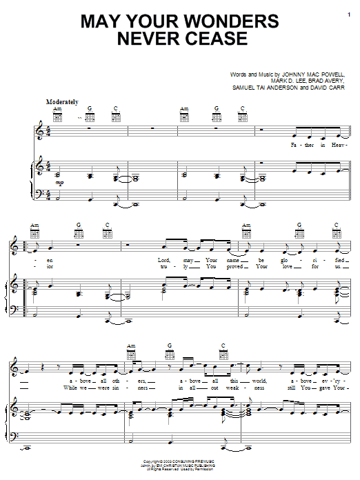 Third Day May Wonders Never Cease sheet music notes and chords. Download Printable PDF.