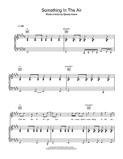 Thunderclap Newman Something In The Air sheet music notes and chords. Download Printable PDF.