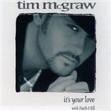 Download or print Tim McGraw with Faith Hill It's Your Love Sheet Music Printable PDF 4-page score for Pop / arranged Big Note Piano SKU: 58417.