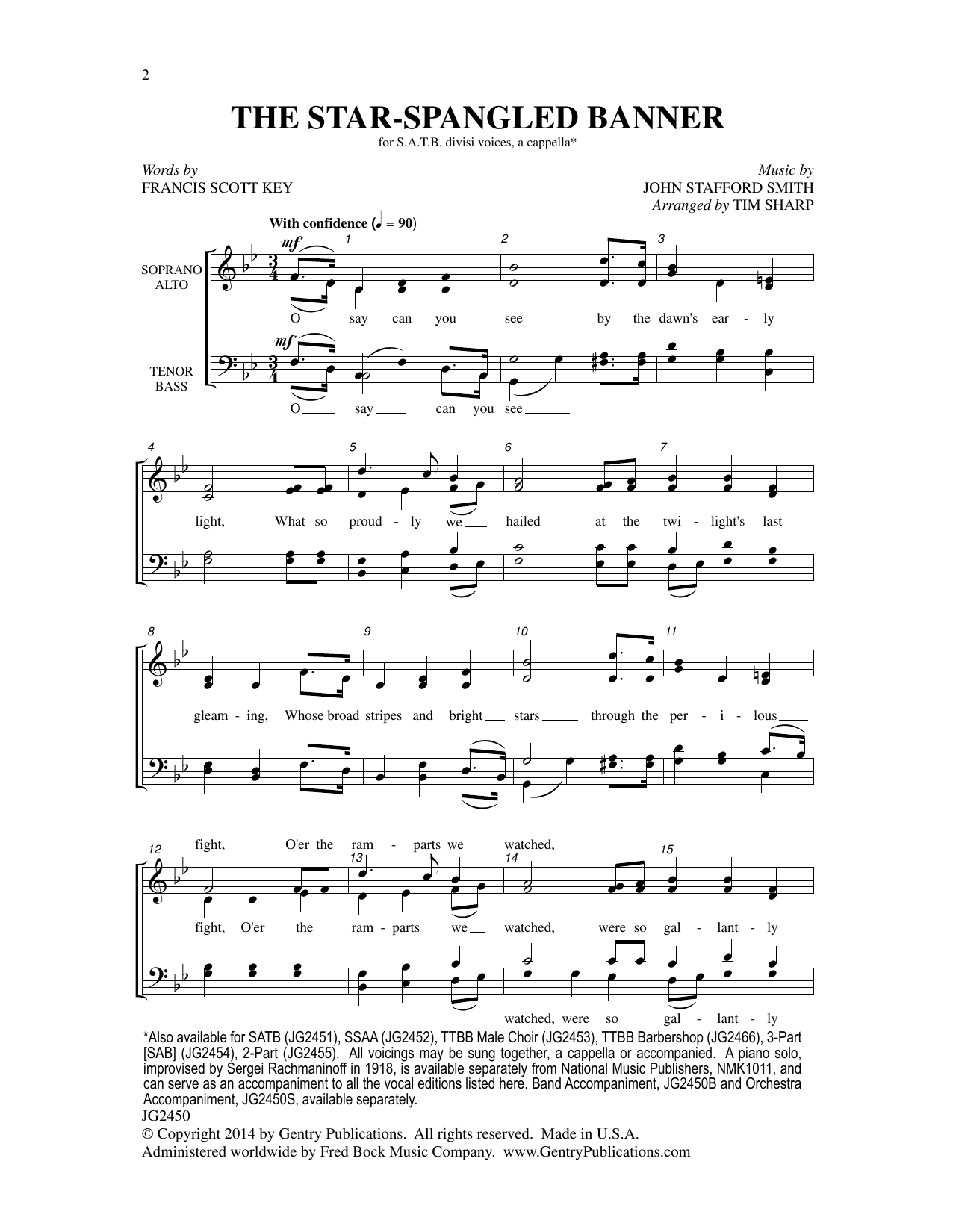 Tim Sharp The Star-Spangled Banner sheet music notes and chords. Download Printable PDF.