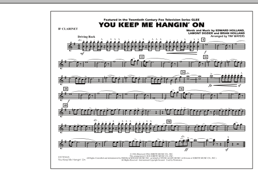 Tim Waters You Keep Me Hangin' On - Bb Clarinet sheet music notes and chords. Download Printable PDF.