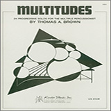 Download Tom Brown 'Multitudes: 24 Progressive Solos For The Multiple Percussionist' Printable PDF 49-page score for Classical / arranged Percussion Solo SKU: 380367.